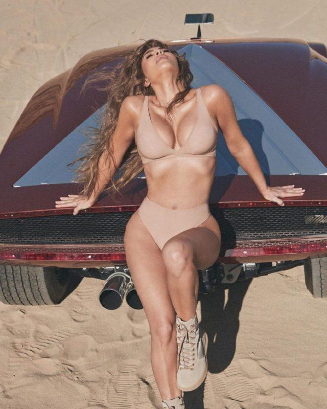 Kim Kadershian Exposes Hot Body While Launching Skims Naked Collection