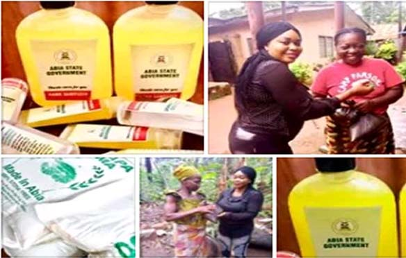 Covid-19 - Abia State Government Distribution Sanitizers, Relief Items to Communities