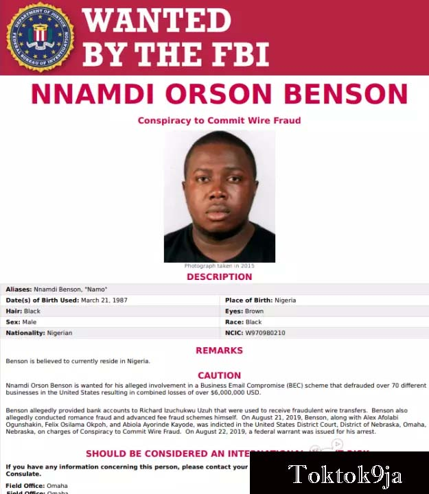 Six Nigerians Declared World's Most Wanted by FBI for $6m Cyber Crime