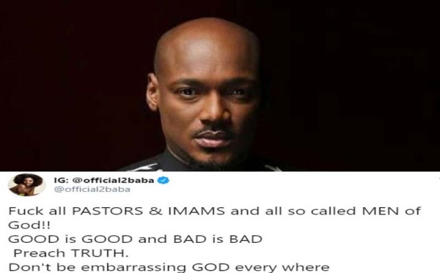 Tuface Idibia Insults Pastors and Imams on Twitter