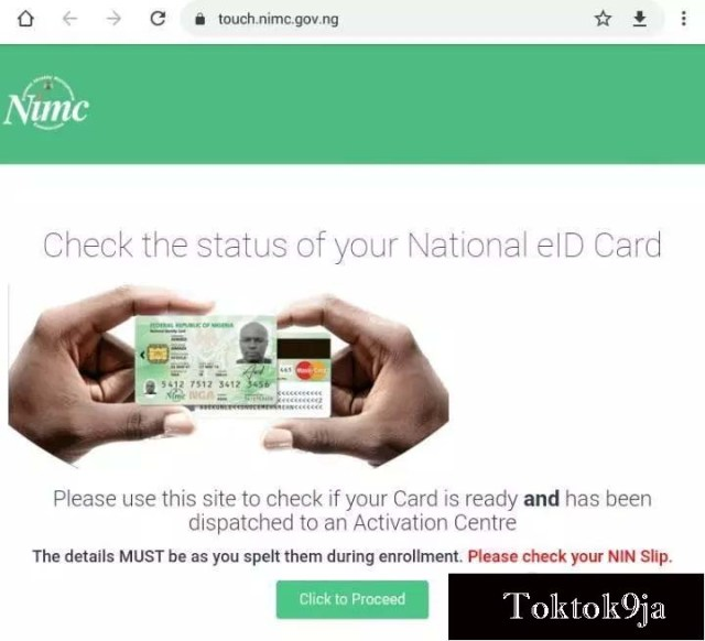 How to check if your National Identity Card is ready for collection