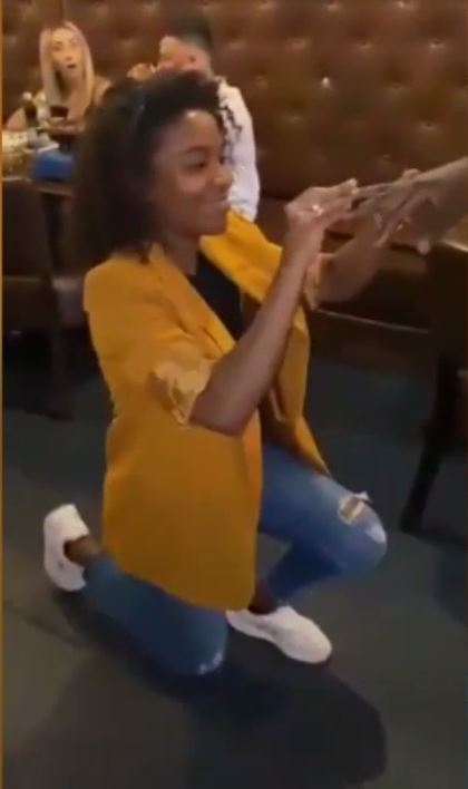 Lady Kneels Down to Propose