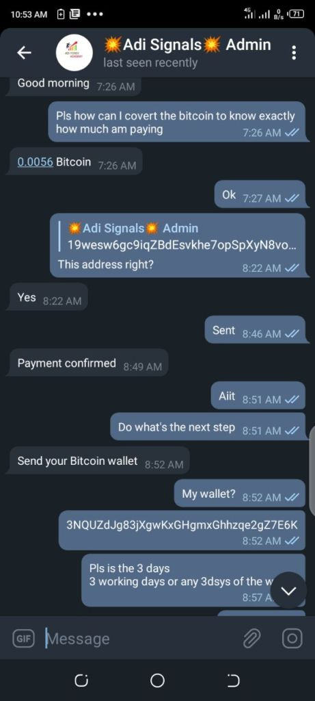 AdiSiganl Academy Are Scammers