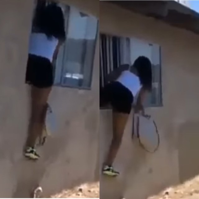 Side Chick Caught Jumping