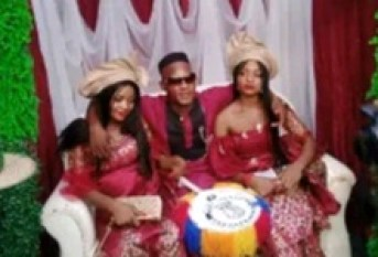 Nigerian Man Jubilates After Marrying Twin Sisters