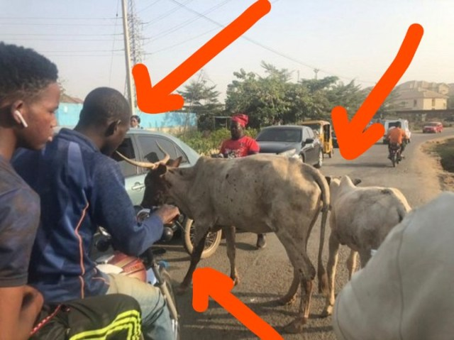 This is What Okada Riders, Motorists Did After Fulani Herdsmen Blocked A Major Road In Abuja