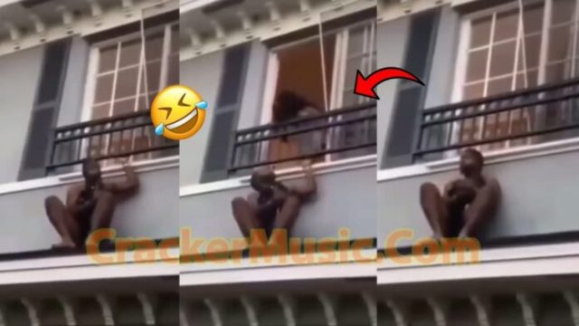 VIDEO: Man Caught Hiding On Roof Top After Husband of The Married Woman He Was Ch£wing  Returned
