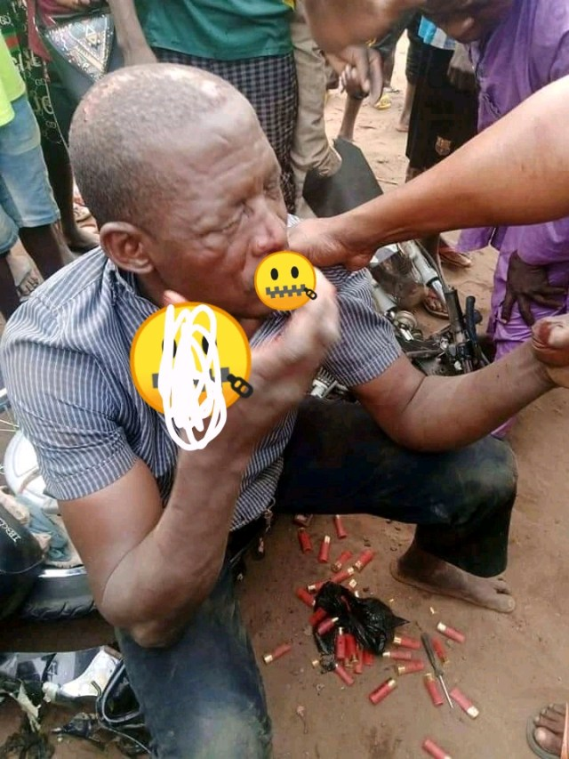 This Man Had A Bike Accident, See What Fell Off From His Pocket That Made People Beat Him To Death