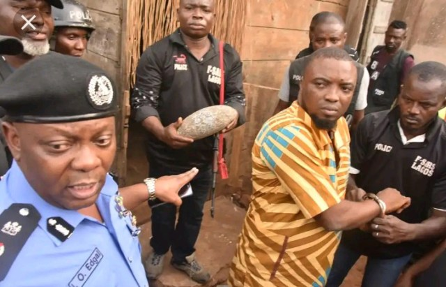 See The Aye Cult National Leader Arrested In Lagos And His Occultic Shrine