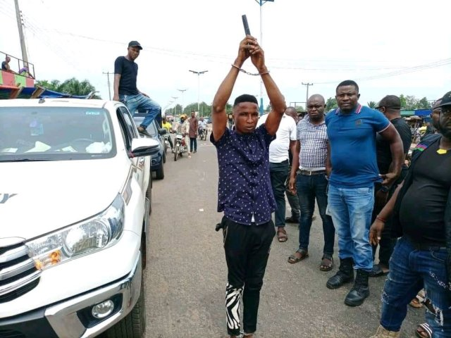 Notorious Armed Robber Who Has Been Terrorizing People in Finally Caught in Delta State