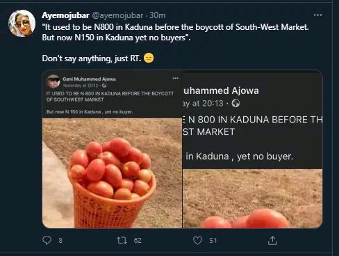 Man Cries Over The New Price Of Tomatoes In The North, Saying It Used To Be 800 Naira But Now It's Just N150