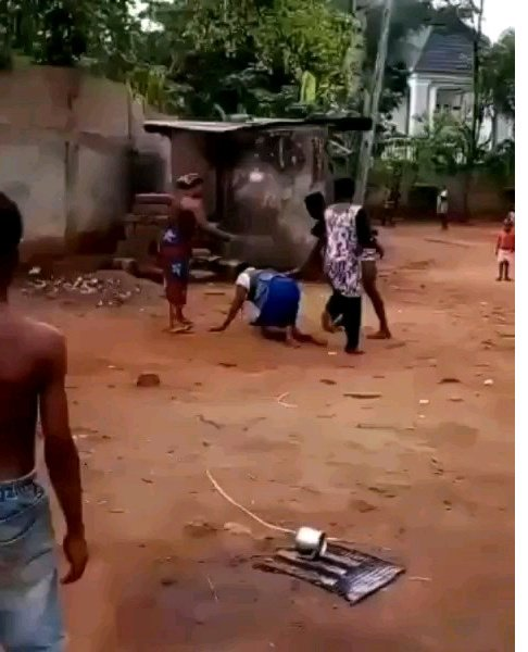 JUSTICE SERVED! Man Flogged 100 Strokes of Cane for Assaulting An Elderly Woman In Anambra State
