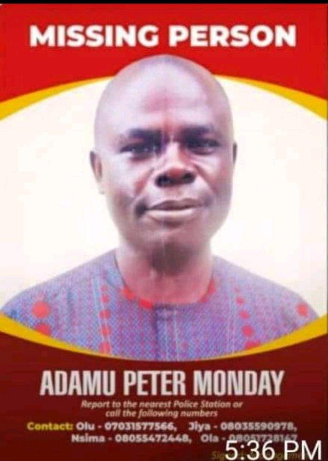 TRCN Staff - Adamu Peter Declared Missing, Please Help Find Him