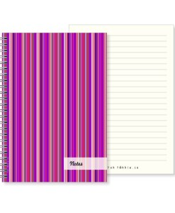 Tok tokkie Notebook – A5 Candy Stripe Red