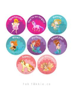 tok tokkie Teachers Reward Labels – FAIRIES 2