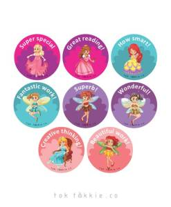 tok tokkie Teachers Reward Labels – FAIRIES 3