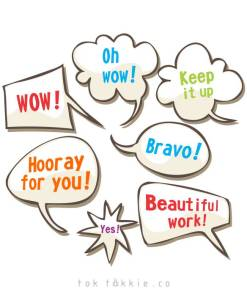 tok tokkie Teachers Reward Labels – SPEECH BUBBLES