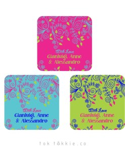 BDAY LABELS – Bright Floral
