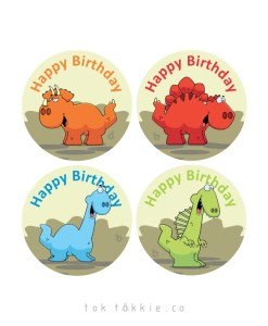 tok tokkie Teachers Reward Labels – DINO BDAY
