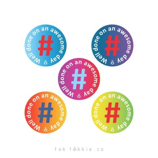 tok tokkie Teachers Reward Labels – #well done on an awesome day