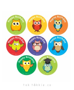 tok tokkie Teachers Reward Labels – OWLS BDAY