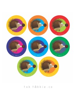 tok tokkie Teachers Reward Labels – ANIMALS – Hedgehogs