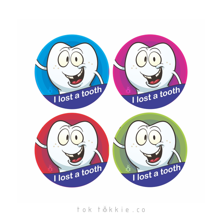 tok tokkie Teachers Reward Labels – I Lost a Tooth