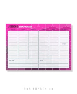 Toktokkie Weekly Planner – Pink Diamonds A5-A4