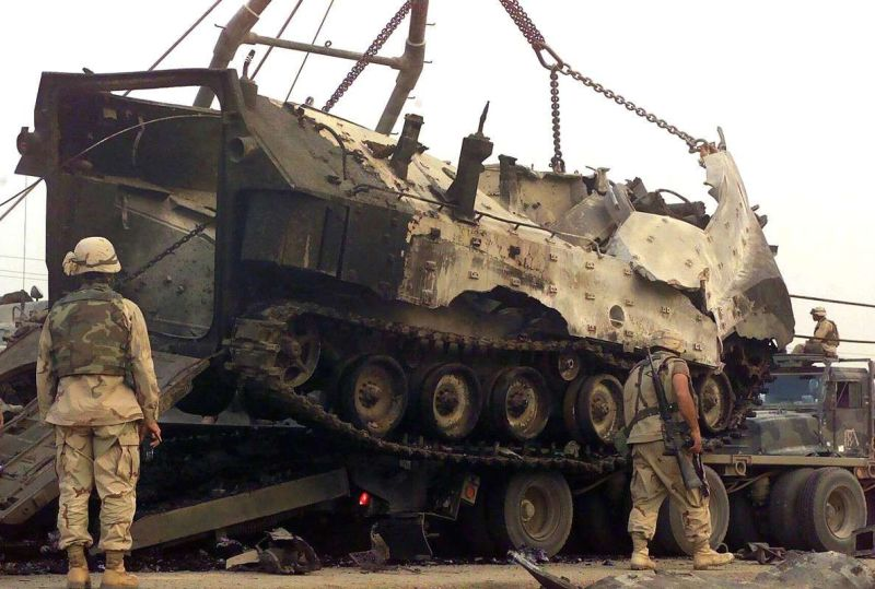 Destroyed AAV7A1 in Iraq
