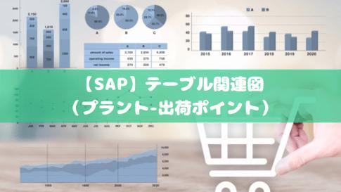 【SAP】テーブル関連図(プラント-出荷ポイント)