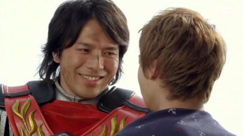 Ogawa guest starring as Hyuuga in Kaizoku Sentai Gokaiger