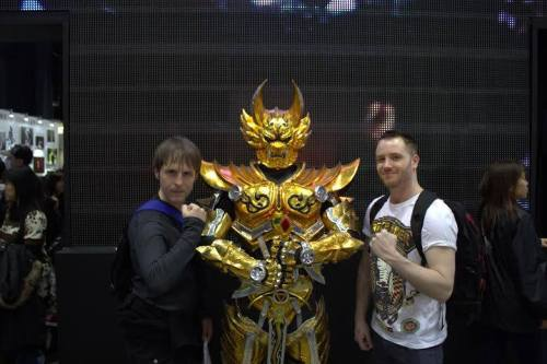 with Tom Constantine at the Anime Tokyo convention