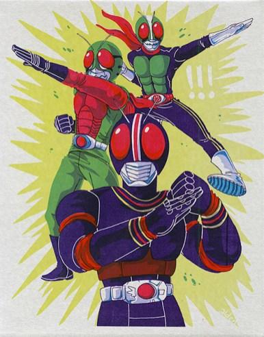 Kamen Rider SilkScreen Print