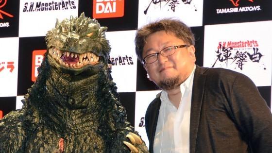Shinji Higuchi and Shin Godzilla Stop by Tokyo Toy Show