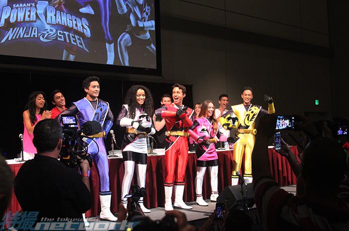 Power Rangers Ninja Steel: Peter Sudarso, Zoe Robins, Will Shewfelt, Chrystiane Lopes, and Chantz Simpson