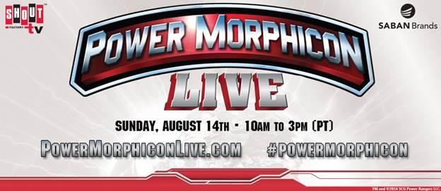 Shout! Factory TV's Power Morphicon LIVE Event Details