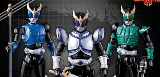Kamen Rider Kuuga 3-Pack SAGA Premium Figures Announced