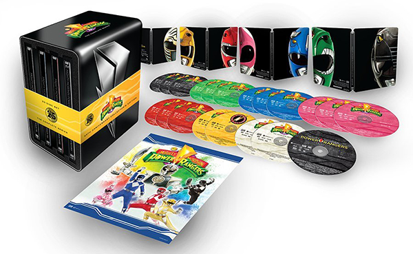 Shout! Factory Announces Mighty Morphin Power Rangers 25th Anniversary Steelbook