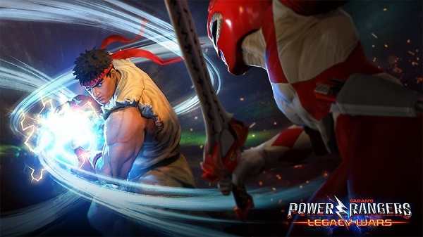 Power Rangers Legacy Wars to Feature Street Fighter Characters