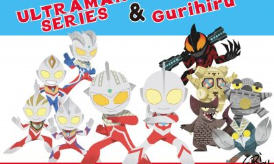 An image showing some of the art Gurihiru drew for their Ultraman collaboration, featuring Ultraman, King Joe and Ultraman Belial, among others.