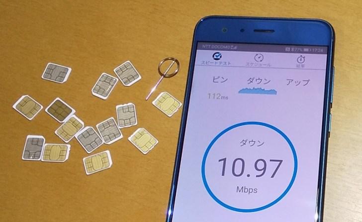 格安SIMの通信速度の測定方法