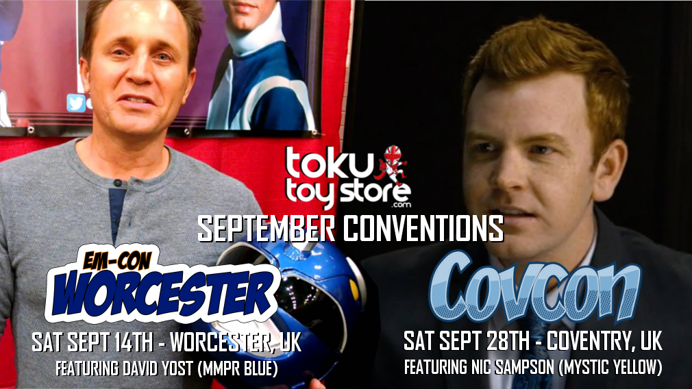 Join Toku Toy Store and the stars of Power Rangers at the following conventions throughout September.