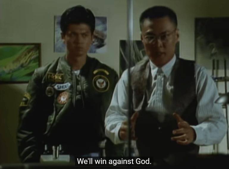 masked rider shin win against god