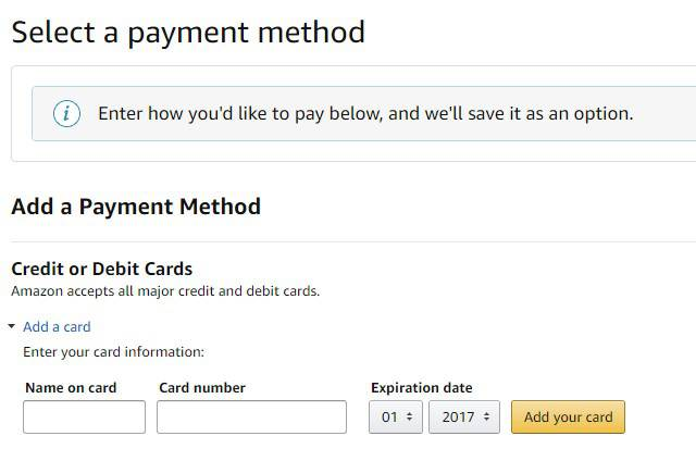 Make Amazon Account Without Credit Card