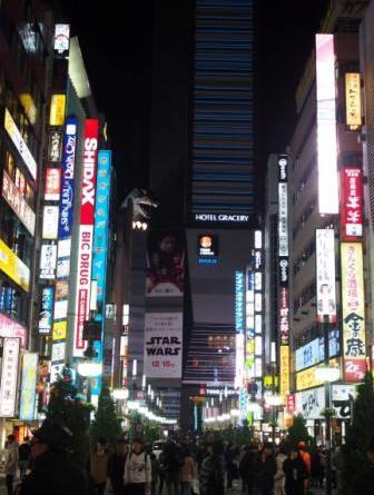 Kabukicho area in Shinjuku, Tokyo, Japan, at night