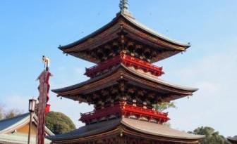 Pagoda of Narita san Shinshoji Temple, Japan.