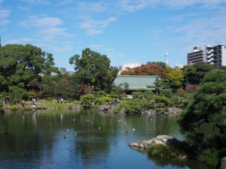 Tokyo Skytree from Kiyosumi Garden
