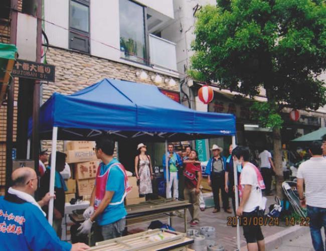2013年8月24日麻布十番納涼まつり七戸物産販売応援