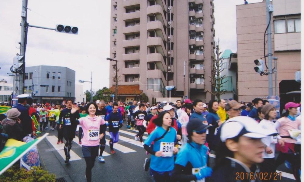 青梅マラソンの七戸物産店