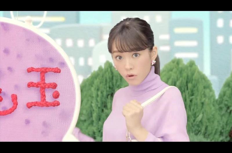 アクロン「毛玉もノンノン」CMに桐谷美玲が替え歌で登場!衣装も髪型も3パターンに